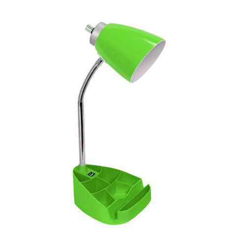 Limelights Gooseneck Organizer Desk Lamp with iPad Tablet Stand Book Holder and USB port, Green - llightsdaddy - LimeLights - Lamp Shades
