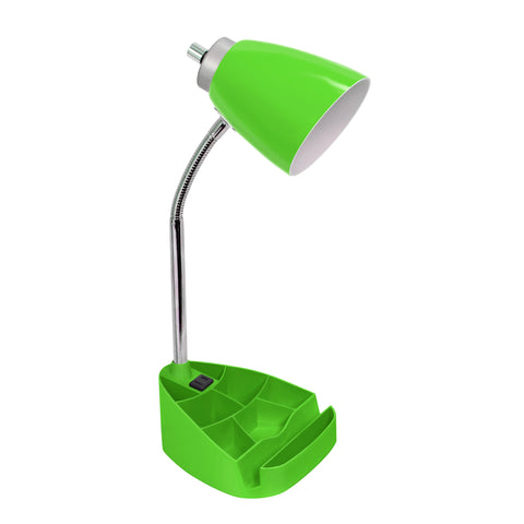 Limelights Gooseneck Organizer Desk Lamp with iPad Tablet Stand Book Holder and Charging Outlet, Green - llightsdaddy - LimeLights - Lamp Shades