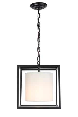 Mirin 1 light Black and White shade pendant - llightsdaddy - Living District - Pendant Lights