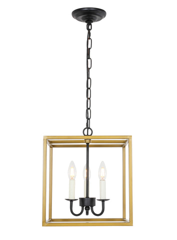 Eclipse 3 light Brass and Black pendant - llightsdaddy - Living District - Pendant Lights