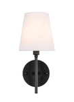 Cason 1 light Black and White shade wall sconce - llightsdaddy - Living District - Wall Sconces and Lamps