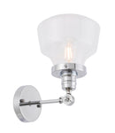 Lyle 1 light Chrome and Clear seeded glass wall sconce - llightsdaddy - Living District - Wall Sconces and Lamps