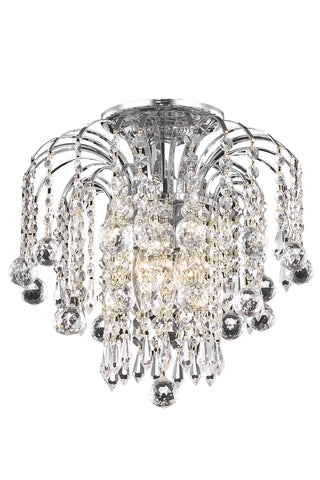 Addison Collection Flush Mount D12in H12in Lt:3 Chrome Finish - llightsdaddy - Living District - Chandeliers