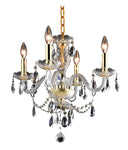 Elle Collection Pendant D17in H18in Lt:4 Gold Finish - llightsdaddy - Living District - Pendant Lights