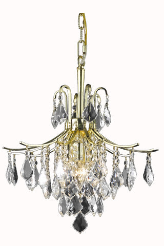 Amelia Collection Pendant D16in H20in Lt:6 Gold Finish