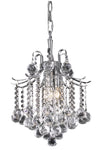 Amelia Collection Pendant D12in H15in Lt:3 Chrome finish - llightsdaddy - Living District - Pendant Lights