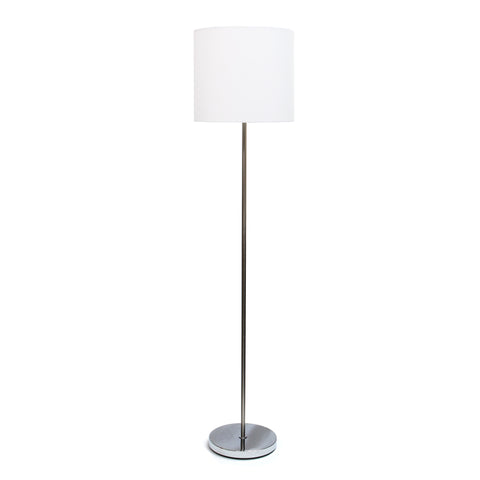 Simple Designs Arched Brushed Nickel Floor Lamp, White Shade  Simple Designs Floor Lamps llightsdaddy.myshopify.com lightsdaddy