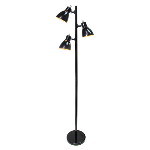 Simple Designs Metal 3-Light Tree Floor Lamp, Black Finish - llightsdaddy - Simple Designs - Floor Lamps