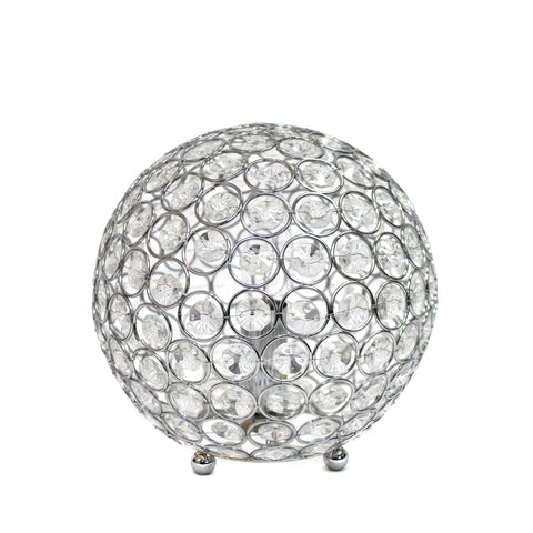 Elegant Designs Crystal Ball Sequin Table Lamp Chrome - llightsdaddy - Elegant Designs - Table Lamp