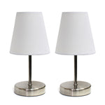 Simple Designs Sand Nickel Mini Basic Table Lamp with Fabric Shade 2 Pack Set  Simple Designs Lamp Shades llightsdaddy.myshopify.com lightsdaddy