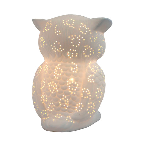Simple Designs Porcelain Wise Owl Shaped Animal Light Table Lamp - llightsdaddy - Simple Designs - Table Lamp