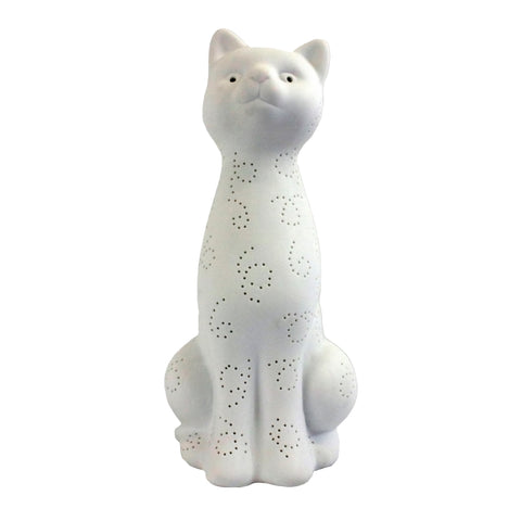 Simple Designs  Porcelain Kitty Cat Shaped Animal Light Table Lamp - llightsdaddy - Simple Designs - Table Lamp