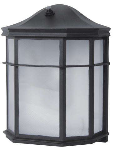 LED OUTDOOR WALL LANTERN, 3000K, 120, CRI80, ETL, ES, 9W, 50000HRS, LM500, W/PHOTOCELL, FROSTED ACRYLIC LENS, NON-DIMMABLE, WET LOCATION, INPUT VOLTAGE 120V, BLACK - llightsdaddy - Elitco Lighting - LED Light Bulbs