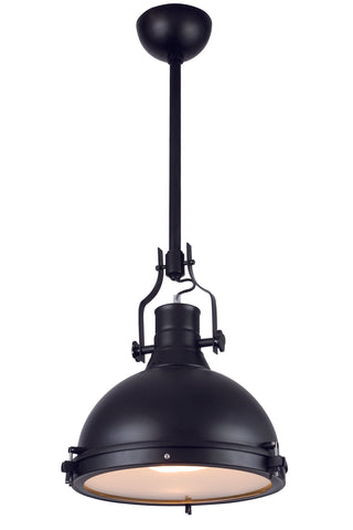 "Industrial  Collection Pendant lamp D:15.75"" H:35.5"" Lt:1 Black Finish - llightsdaddy - Urban Classic - Pendant Lights"