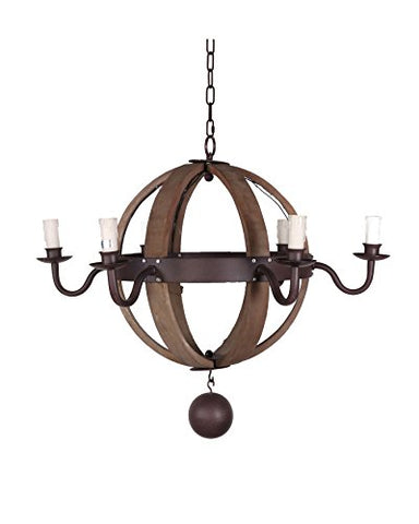 Wood and metal sphere chandelier - llightsdaddy - TXUSA Corporation - Chandeliers