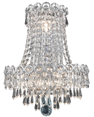 Century 3 light Chrome Wall Sconce Clear Elegant Cut Crystal - llightsdaddy - Elegant Lighting - Wall Sconces and Lamps