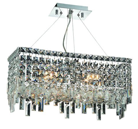 2035 Maxime Colloection Chandelier L:20 in W:10in H:7.5in Lt:4 Chrome Finish (Elegant Cut Crystals)