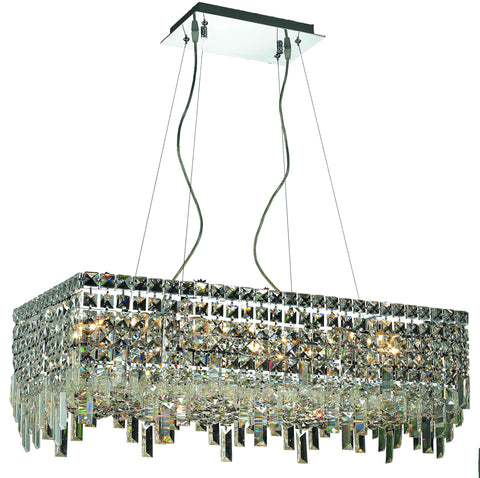 2035 Maxime Colloection Chandelier L:28 in W:14in H:7.5in Lt:16 Chrome Finish (Elegant Cut Crystals) - llightsdaddy - Elegant Lighting - Chandeliers