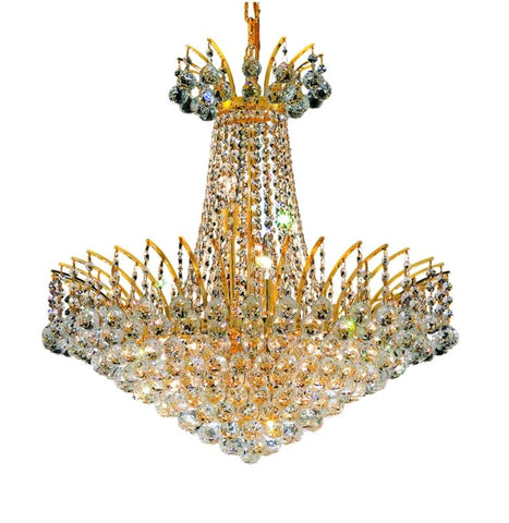 8031 Victoria Collection Chandelier D:24in H:24in Lt:11 Gold Finish (Elegant Cut Crystals) - llightsdaddy - Elegant Lighting - Chandeliers