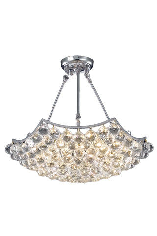 Corona 6 light Chrome Chandelier Clear Elegant Cut Crystal - llightsdaddy - Elegant Lighting - Chandeliers