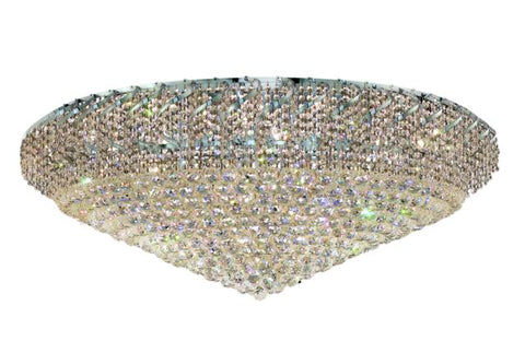 Belenus 36 light Chrome Flush Mount Clear Elegant Cut Crystal - llightsdaddy - Elegant Lighting - Chandeliers