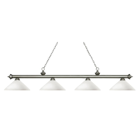 4 Light Island/Billiard Light 200-4AS-AMO14 - llightsdaddy - Z-Lite - Billiard & Pool Table Lights
