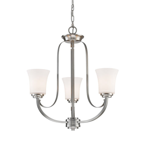 3 Light Chandelier 7000-3BN