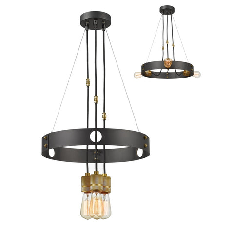 3 Light Chandelier 8001-3BRZ - llightsdaddy - Z-Lite - Ceiling Lights