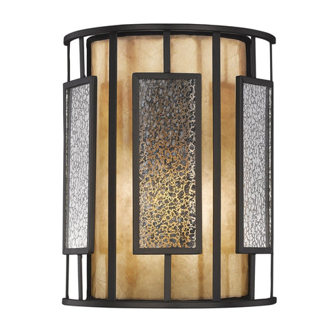 Lankin 1 Light 8 inch Bronze Wall Sconce Wall Light in Multi Colored Tiffany Glass (54)