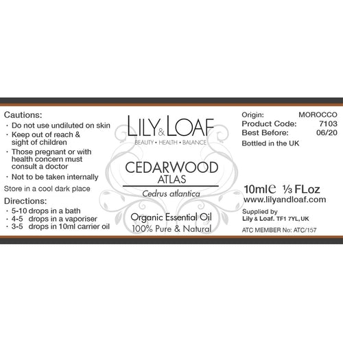 Cedarwood Atlas - Organic Essential Oil