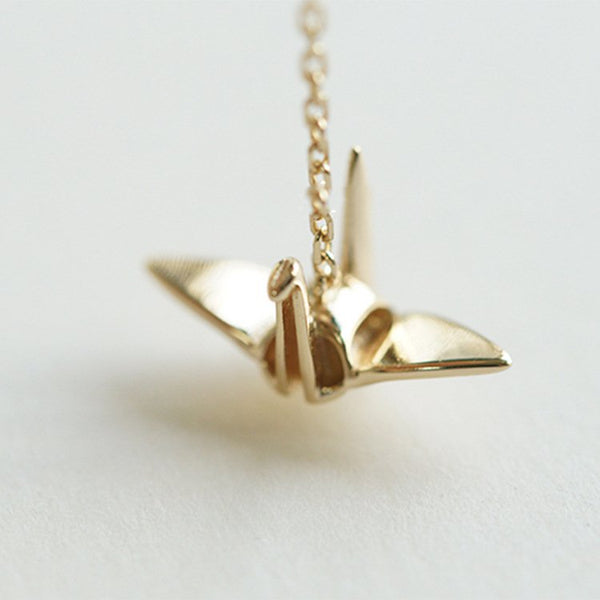 Silver Peace Bird Necklace