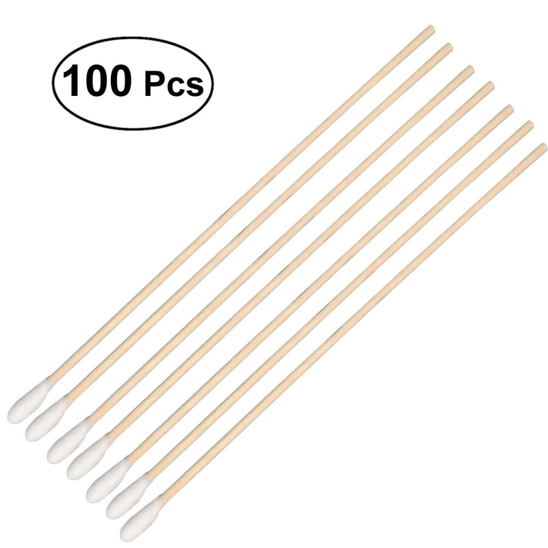 100x Long Wood Handle Cotton Swabs
