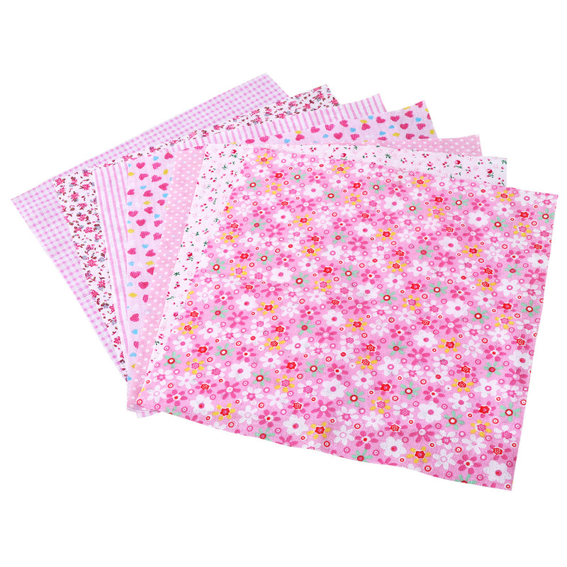 7pcs Squares Floral Pattern Cotton Fabric Cloth For DIY Crafts Sewing Scrapbooking