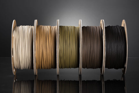 Bundle von Holz Filament Samples  (1,75mm) - REDLINE FILAMENT