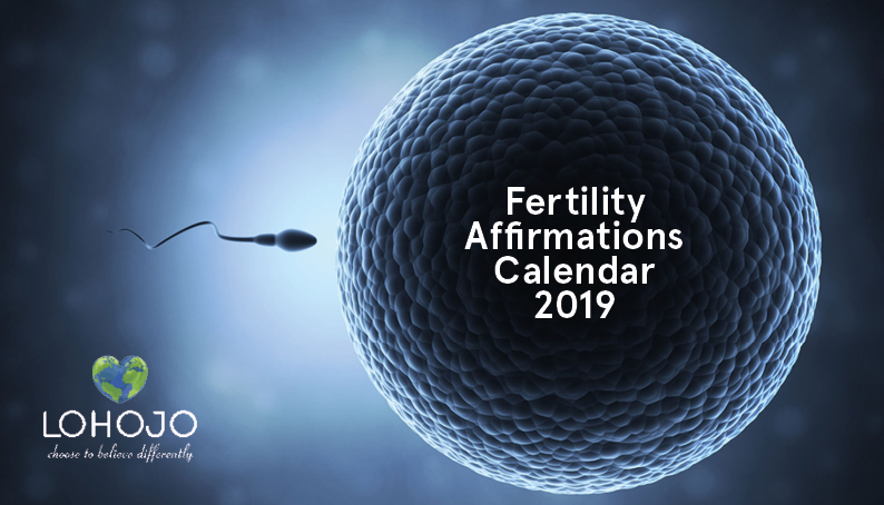 2019 Fertility Affirmations Calendar - ON SALE