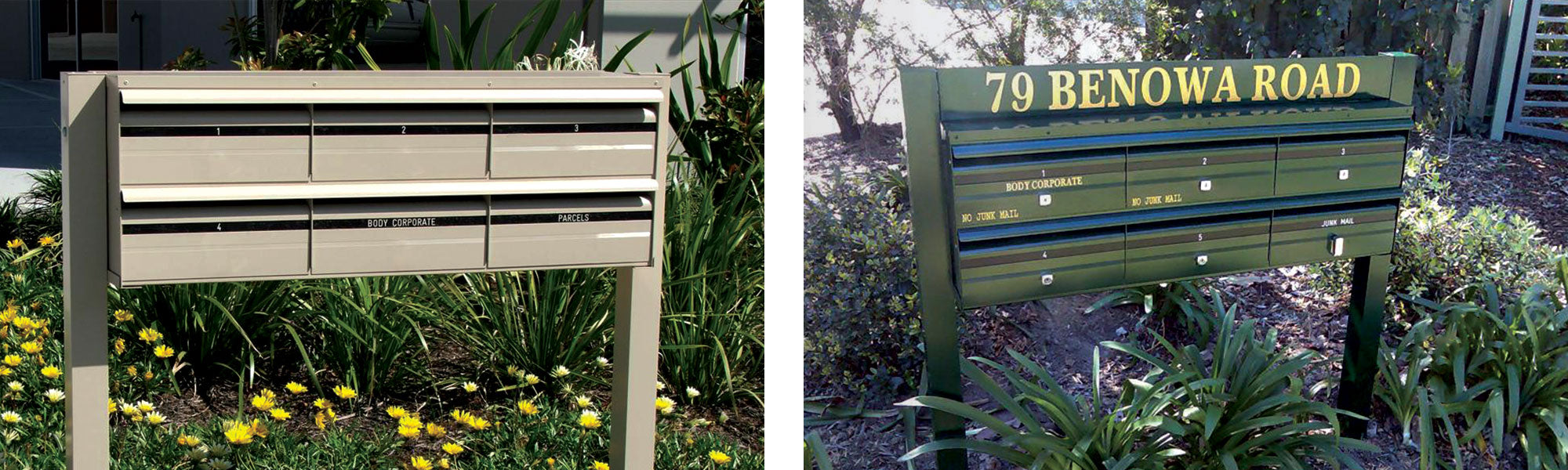 Sunny Coast Products - Commercial Letterbox Examples B