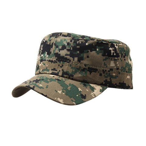 5ad8a37a345 Outdoor Camo Tactical Plain Vintage Army Military Cadet Style Cap Hat  Adjustable - Civil-Op s