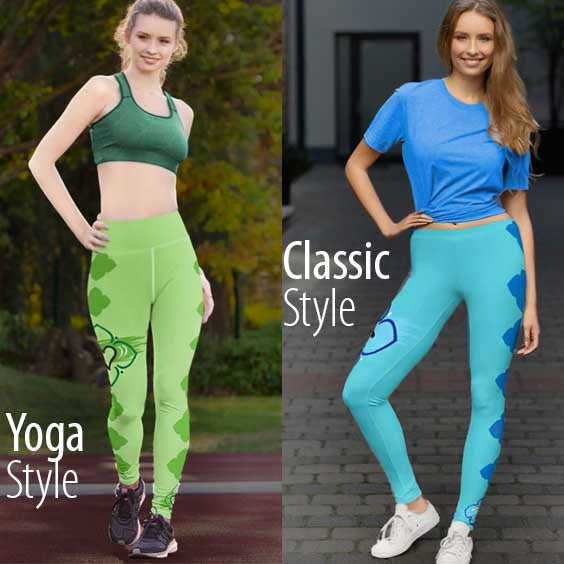 Yoga and Classic styles of Leggings explained