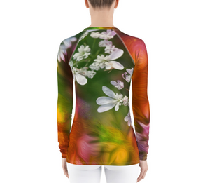 Women's Rashguard - Florals: Cilantro Splash by Lidka Schuch