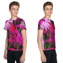 Tween's and Teen's T-shirt - Florals: Very Pink Susans by Lidka Schuch