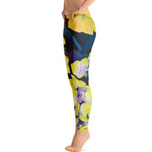 Leggings, Classic Cut - Florals: Yellow Hydrangea by Lidka Schuch