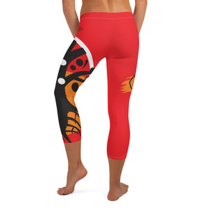 Capri Leggings, Classic Cut - Chakra Magic: Root Chakra by Mona Idriss