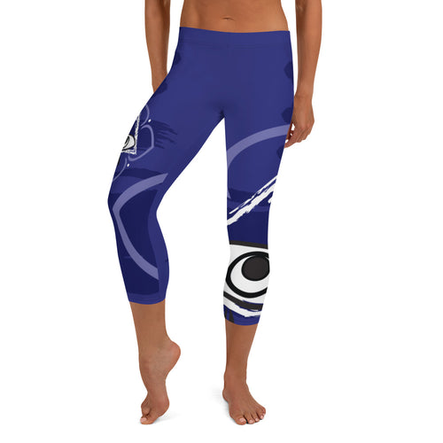 Capri Leggings, Classic Cut - Chakra Magic: Third Eye Chakra by Mona Idriss
