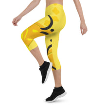 Capri Leggings, Classic Cut - Chakra Magic: Solar Plexus Chakra by Mona Idriss