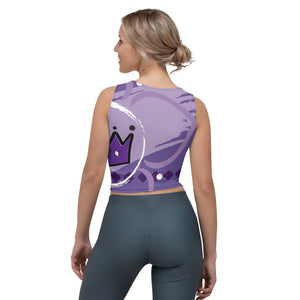 Crop Tank Top - Chakra Magic: Crown Chakra by Mona Idriss