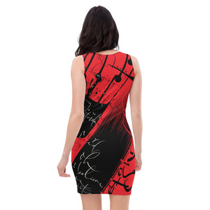 Bodycon | Fitted Dress - Yesterday in Red by Barbara Galinska (BaGa)