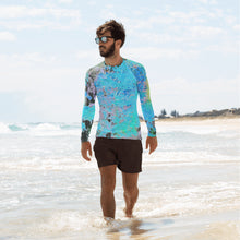 Men's Rashguard - Wrapped in Trees: Maples in Blue by Lidka Schuch