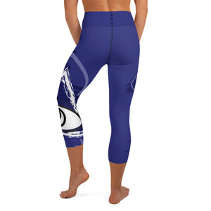 Capri Leggings, Yoga Cut - Chakra Magic: Third Eye Chakra by Mona Idriss