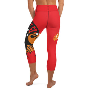 Capri Leggings, Yoga Cut - Chakra Magic: Root Chakra by Mona Idriss