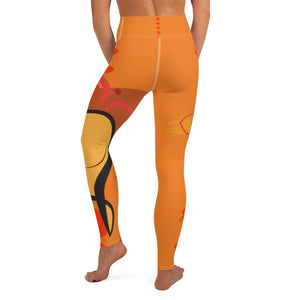 Leggings, Yoga Cut - Chakra Magic: Sacral Chakra by Mona Idriss & Lidka Schuch